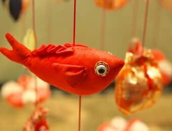 つるし雛の金魚の画像