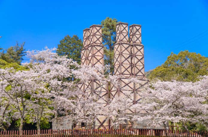 韮山反射炉の春の画像
