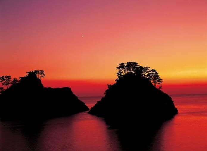 西伊豆の堂ヶ島の夕陽