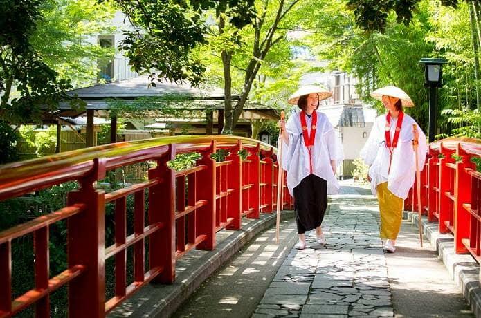 修禅寺とお遍路さん