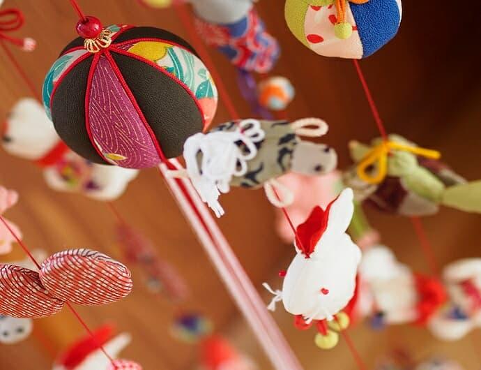 伊豆稲取の雛のつるし飾り