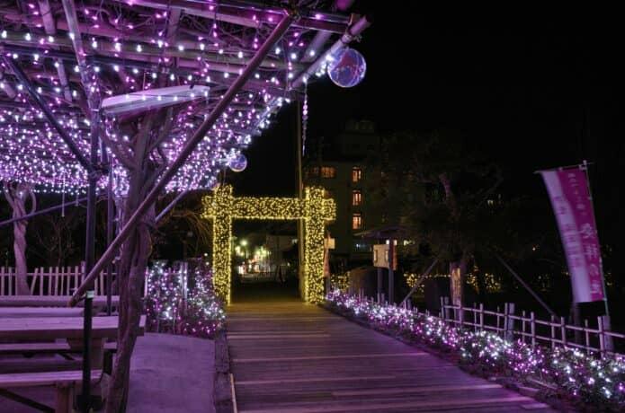 稲取文化公園のイルミネーション