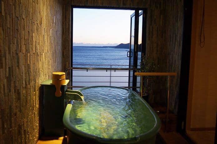 銀水莊 客室露天風呂