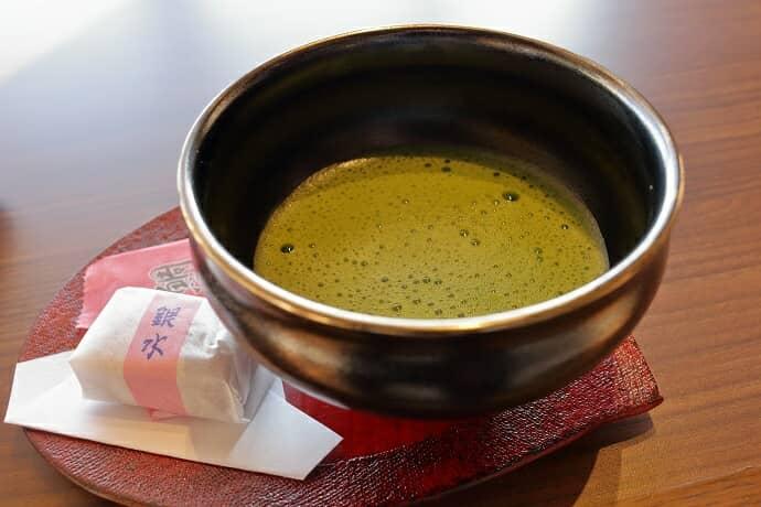 銀水莊の抹茶