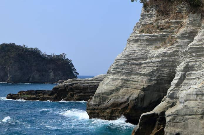 堂ヶ島 岩肌