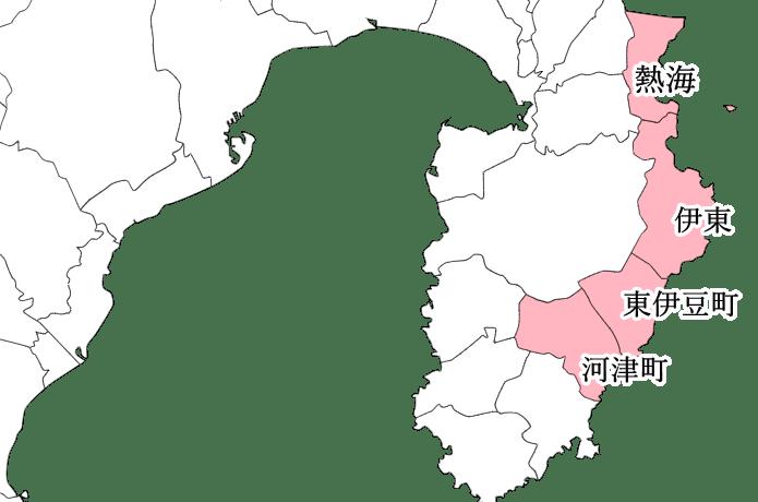 東伊豆エリア 地図