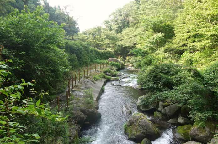 萬城の滝 下流