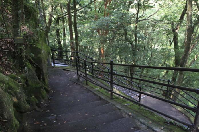 浄蓮の滝 階段