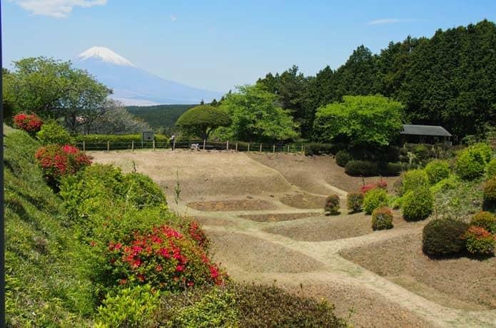 山中城址 富士山