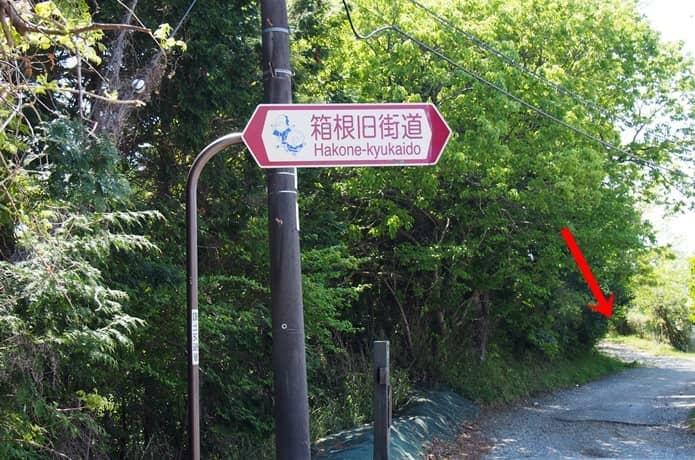 国道1号線 箱根旧街道看板