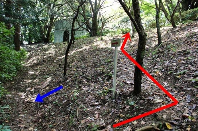 伊豆山神社 参道 案内標識